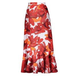 Trendy Women's High Waist Ruffled Pleated Skirt