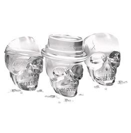 3 D 3 Skulls Party Bar Silicone Freezer Ice Cube Mold Whiskey Wine