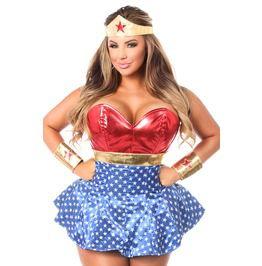 Lavish 3 Pc Superhero Corset Dress Costume