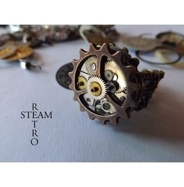 Anarchy Steampunk Ring Steampunk Steamretro
