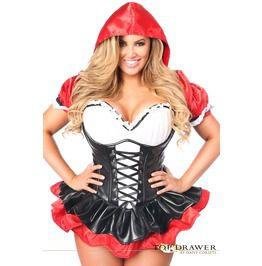 921a9c9d9a425 Top Drawer Premium Red Riding Hood Corset Dress Costume