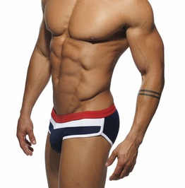 Sexy Low Waist Patchwork Color Summer Swimming Briefs Trunks Men