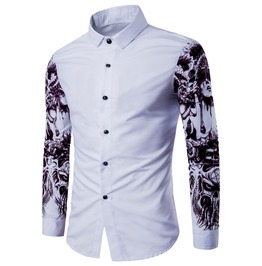Skull Tattoo Ink Sleeves Men Shirt