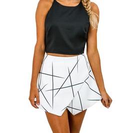 Urban Women's Irregular Lines Layered Shorts