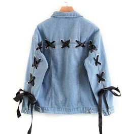 Lace Up Denim Jacket / Chaqueta Vaquera Corsé Wh013