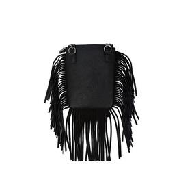 Imitation Leather Cross Skull Fringe String Messenger Bag