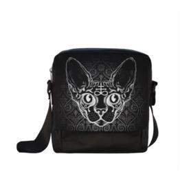 Black Cat Sphinx Cross Body Shoulder Bag
