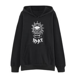 Dark Forest Harajuku Punk Cactus Print Loose Long Sleeved Women Sweatshirt