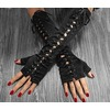 Rebelsmarket sexy lace up fingerless black sleeve gloves womens accessories gloves 5