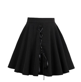 Lolita Skater Goth Lace Up Zipper Women Mini Skirt