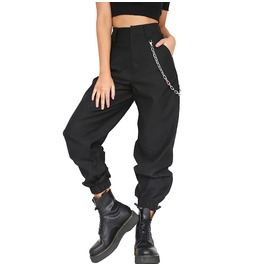 High Waist Chained Cotton Women Pant