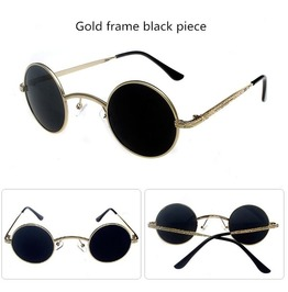 Gothic Steampunk Small Round Sunglasses