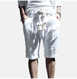 Punk Rock Summer Linen Shorts For Men