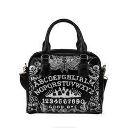 Black Ouija Shoulder Handbag
