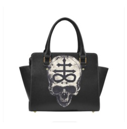 Leviathan Cross Skull Shoulder Handbag