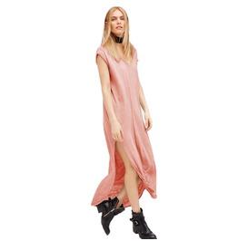 Summer Loose Sleeveless V Neck Midi Dress