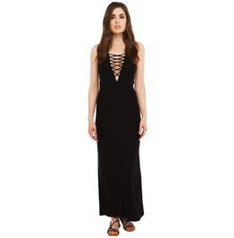 Sexy Spaghetti Strap Lace Up Summer Hollow Maxi Womens Dress