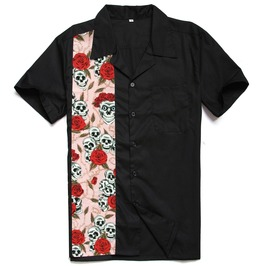 Rock Spooky Vintage Short Sleeve Men Shirt