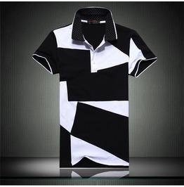 Summer Urban Asymmetrical Pattern Men Polo Shirt Up 6 Xl