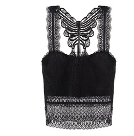 Sexy See Though Lace Embroided Goth Victorian Womens Bra Bralette Top