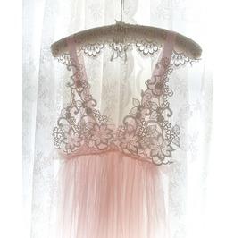 0b44d35a46 Romantic Fairy Tunic Tutu Dress Blush Pink Tulle White Lace Applique