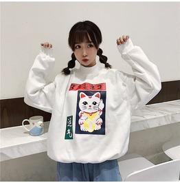 Maneki Neko Sweatshirt Sudadera Wh199