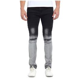 Biker Holes Washed Retro Men Jeans