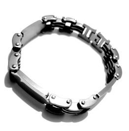 Cool Stainless Steel Wristband Motorcycle / Bike Chain Link Design Bracelet