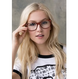 Clear Lens Glasses Geek Nerd Cosplay Chunky Frame Brown Geeky Womens