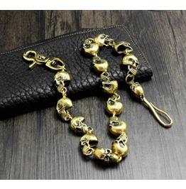 Men's Punk Rock Wallet Chain With Key Rings Pat.3