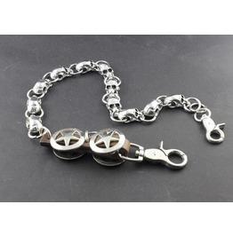 Men's Punk Rock Wallet Chain With Key Rings Pat.6