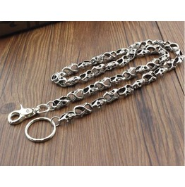 Men's Punk Rock Wallet Chain With Key Rings Pat.8