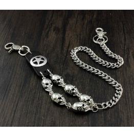 Men's Punk Rock Wallet Chain With Key Rings Pat.13