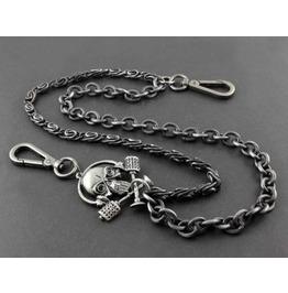 Men's Punk Rock Wallet Chain With Key Rings Pat.19