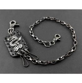 Men's Punk Rock Wallet Chain With Key Rings Pat.20