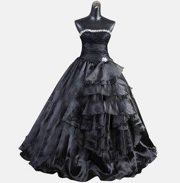 Gothic Wedding Dress Black Fantasy Gown Made To Measure Handmade Uk