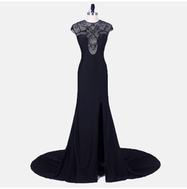 Sleek Black Prom Mermaid Wedding Graduation Dress