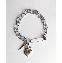 Gothic Visual Kei Crown Heart Bracelet