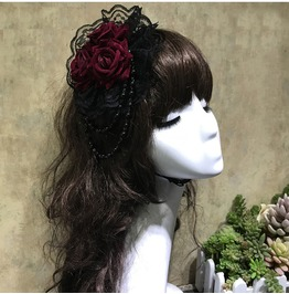 Rose Lolita Lace Victorian Harajuku Womens Hair Clip Hat Accessories