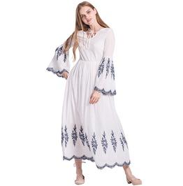 Boho Chic V Neck Flare Sleeve Maxi Dress