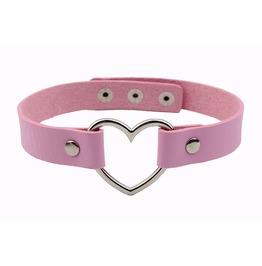 Ddlg Kawaii Heart Leather Choker Women Necklace