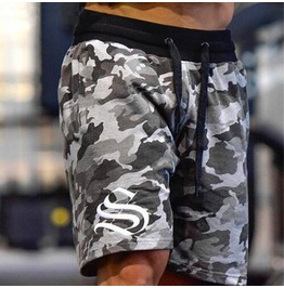 Casual Camouflage Streetwear Men Shorts