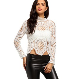 High Fashion Hollow Out Lace Blouse