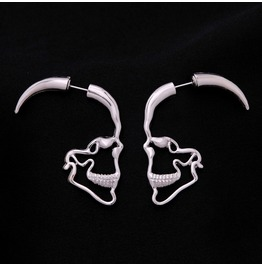 Gothic Punk Skull Earrings