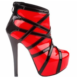High Heel Strappy Back Zipper Women Boots