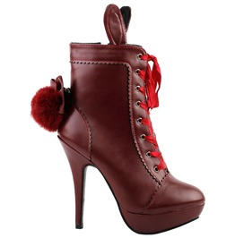 High Heel Bow Lace Up Women Boots