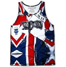 Sex Pistols Vest Punkrock Anarchy Uk Singlet God Save Queen Tank Top Chaquetero