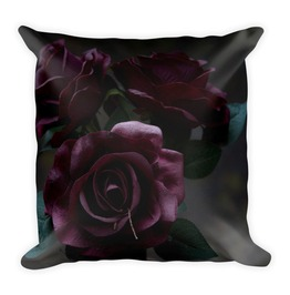 Cemetery Roses Throw Pillow