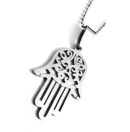 Lucky Jain Hand Symbol Design Stainless Steel Titanium