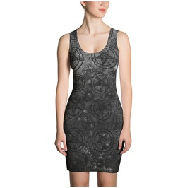 Grey Pentagram Bodycon Dress